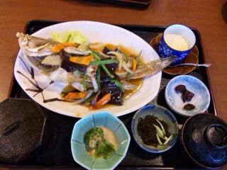 オークレストランの魚のあんかけ