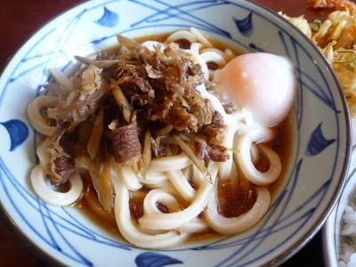 讃岐釜揚げうどん 丸亀製麺の『肉玉ごぼう冷』(大)¥630