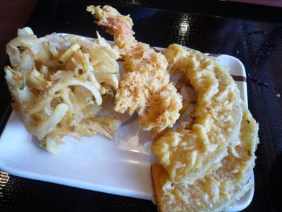 讃岐釜揚げうどん 丸亀製麺のトッピングの天ぷら