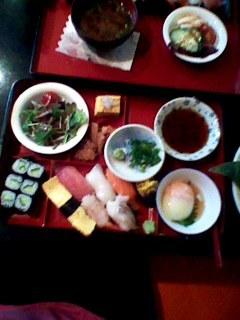 寿司ランチ 雅の780円の握りセット