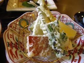 ナハテラスの和食「真南風」の和食 天ぷら